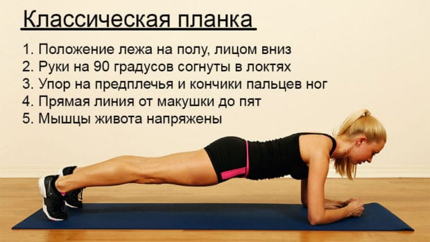 Упражнение «планка» — техника выполнения