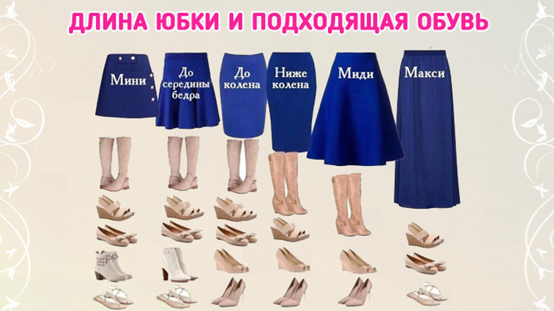 Юбка и обувь