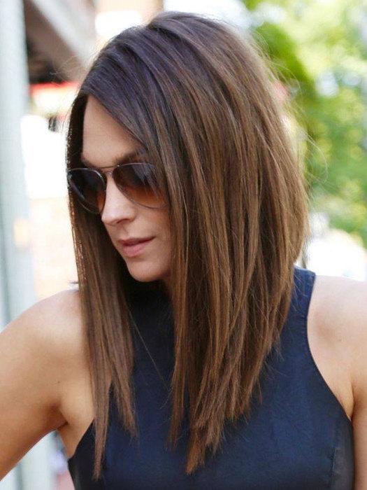 фото стрижек на средние волосы женских