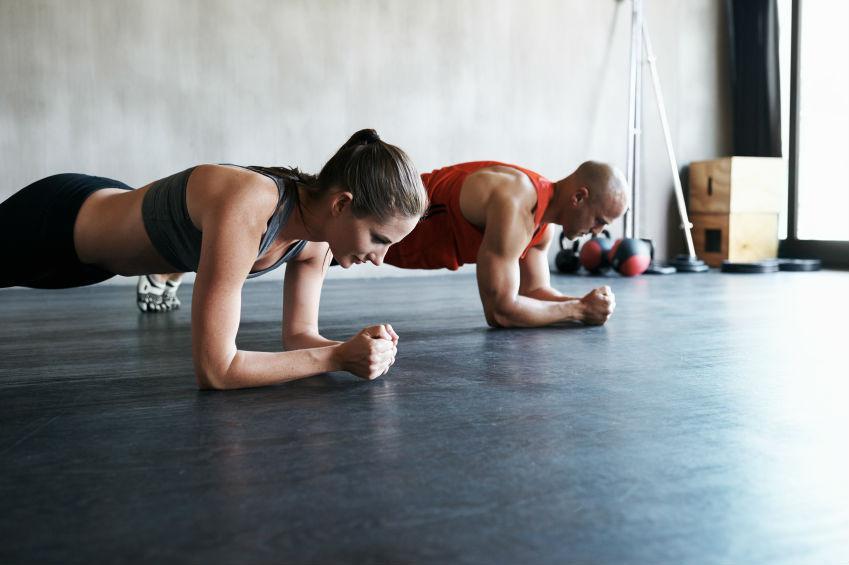 Упражнение планка для укрепления пресса и мышц