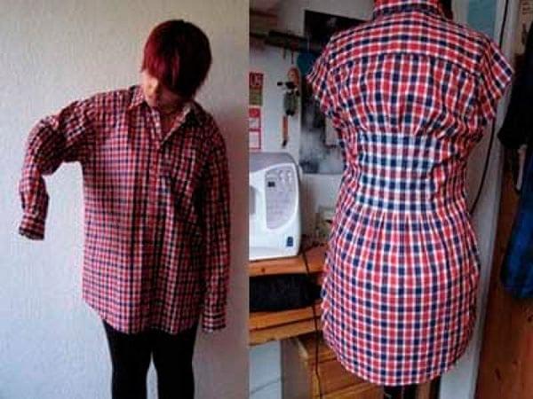 7 примеров как из рубашки мужа сделать модную вещь