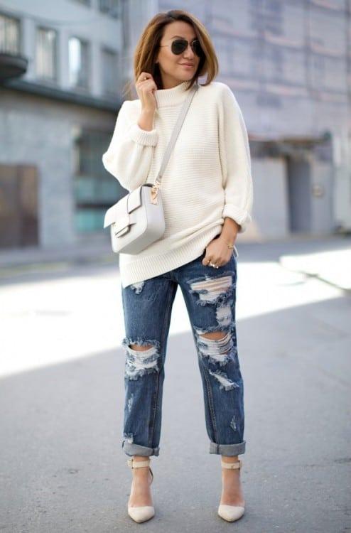 Просто и со вкусом: 35 повседневных нарядов джинсы+кофта