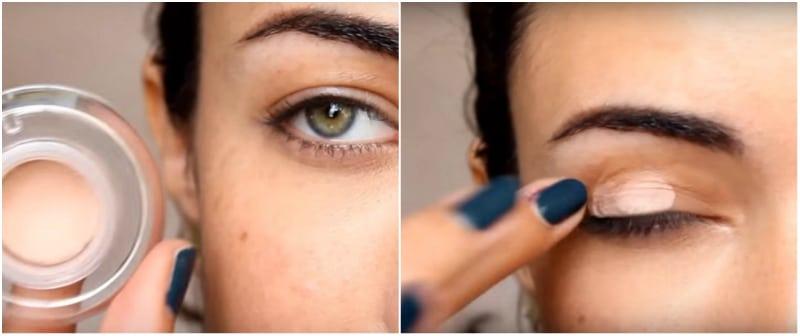 Макияж глаз с нависшим веком: пошаговое фото