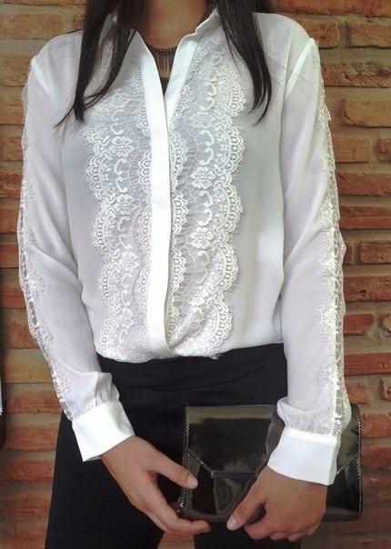 18 женственных образов с белой блузкой