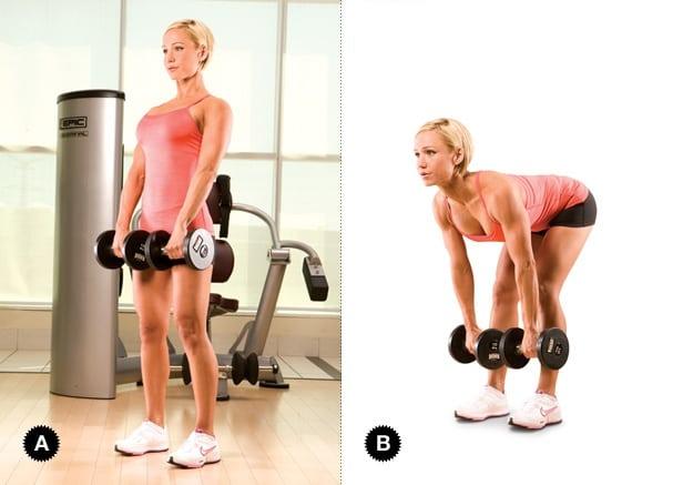 Самые эффективные упражнения для мышц спины с гантелями