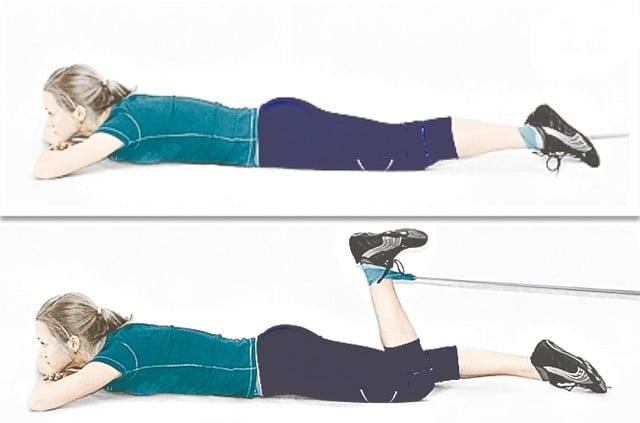 Домашние упражнения с резинкой (эспандером) для ног и ягодиц