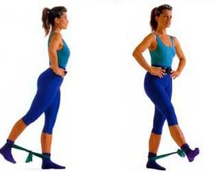 Домашние упражнения с резиновой лентой