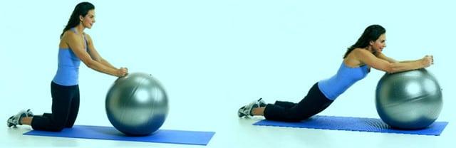 Домашний комплекс упражнений на мяче для похудения