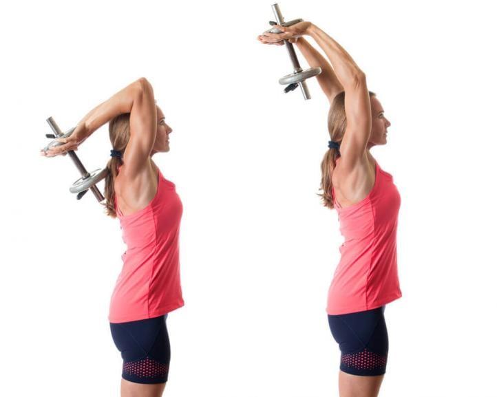 Упражнения для укрепления рук с гантелями для женщин